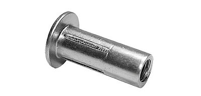 Folding blind rivet nut