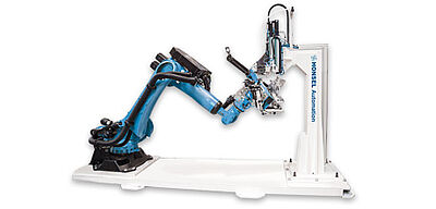 Robot cell for automated processing of fasteners